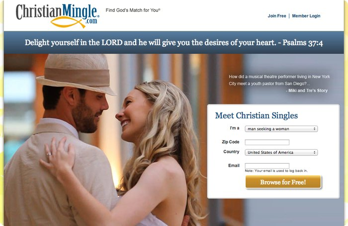 Christian mingle search results