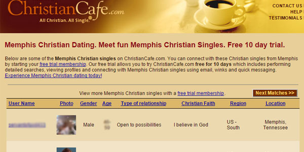 Christiancafe.com search