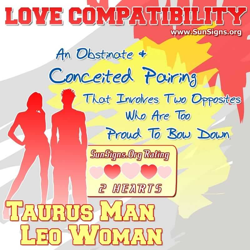 Compatibility of taurus and leo