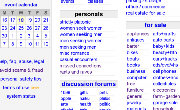 Craigslist dating personals