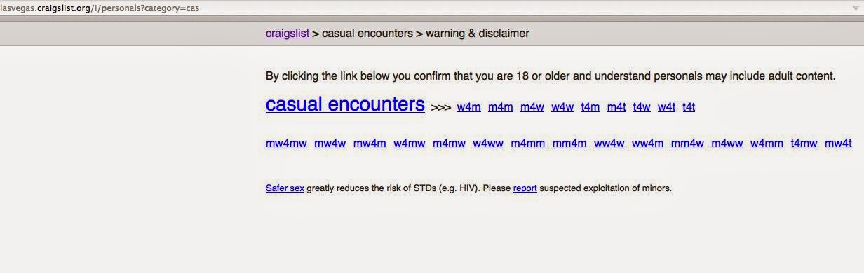 Craigslist warnings personals