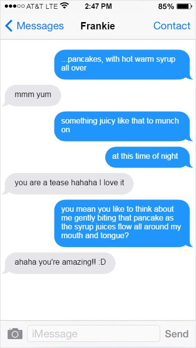 Ways to seduce a guy over text