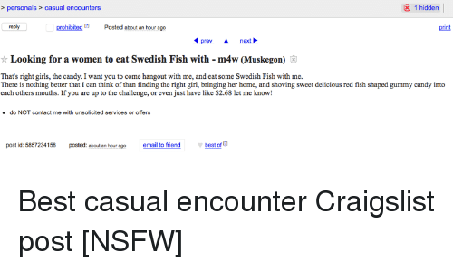 Casual encounters other than craigslist