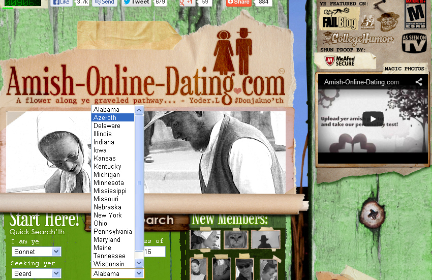 Amish dating website