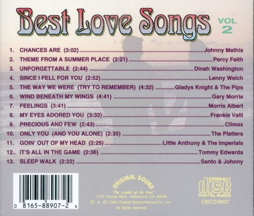 The top love songs