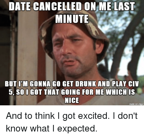 Date cancelled last minute