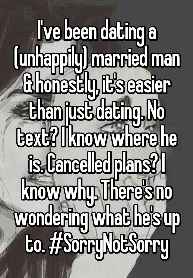 Dating an unhappily married man