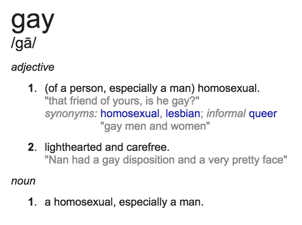 Definition of gays