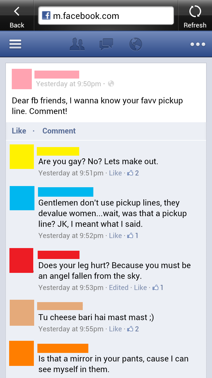 Dirty lesbian pick up lines