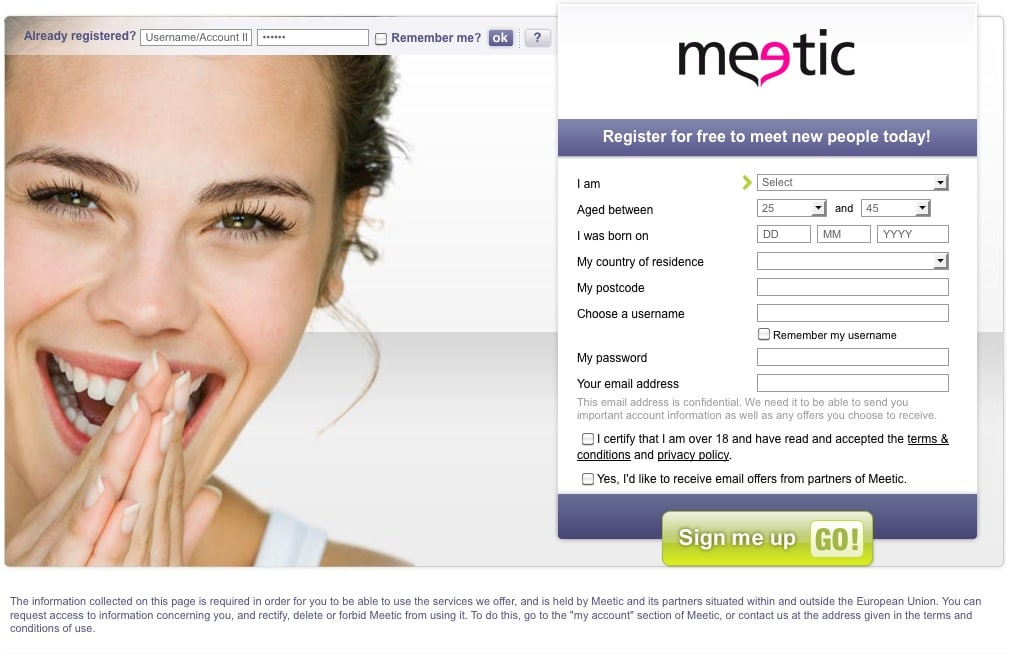 Meetic free trial