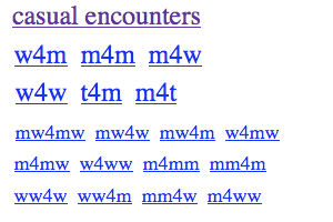 Craigslist intimate encounters