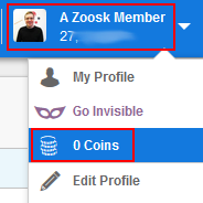 How does zoosk coins work