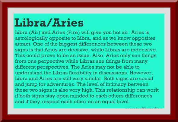 Libra and aries compatibility love