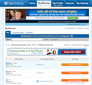 Eharmony messages