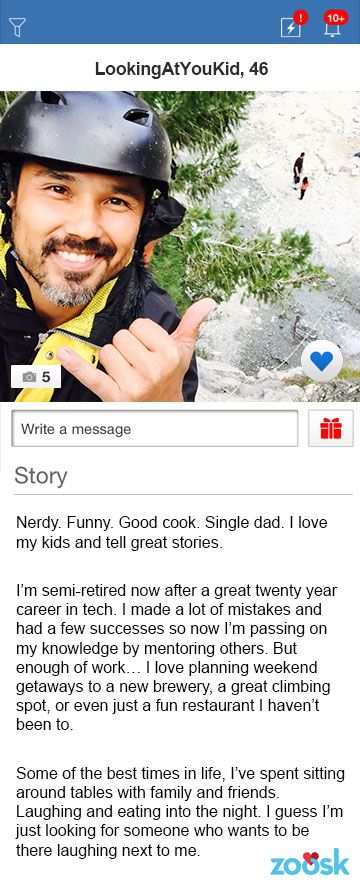 Examples of good dating profiles for men