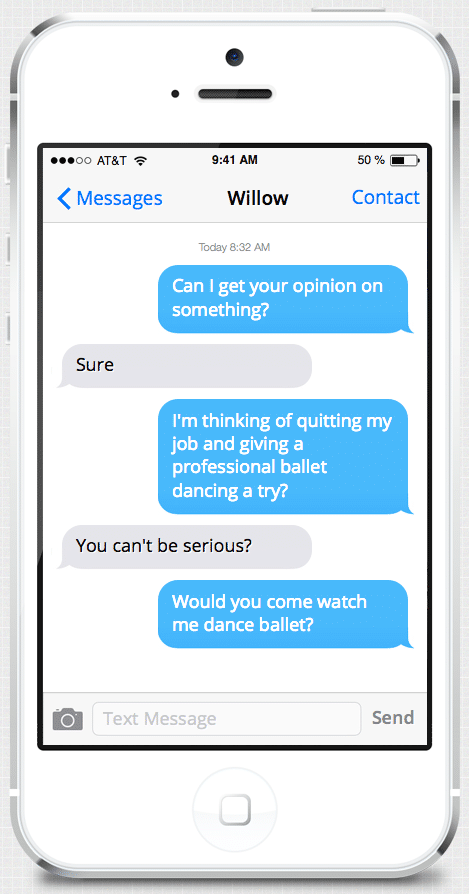 Examples of teasing text messages