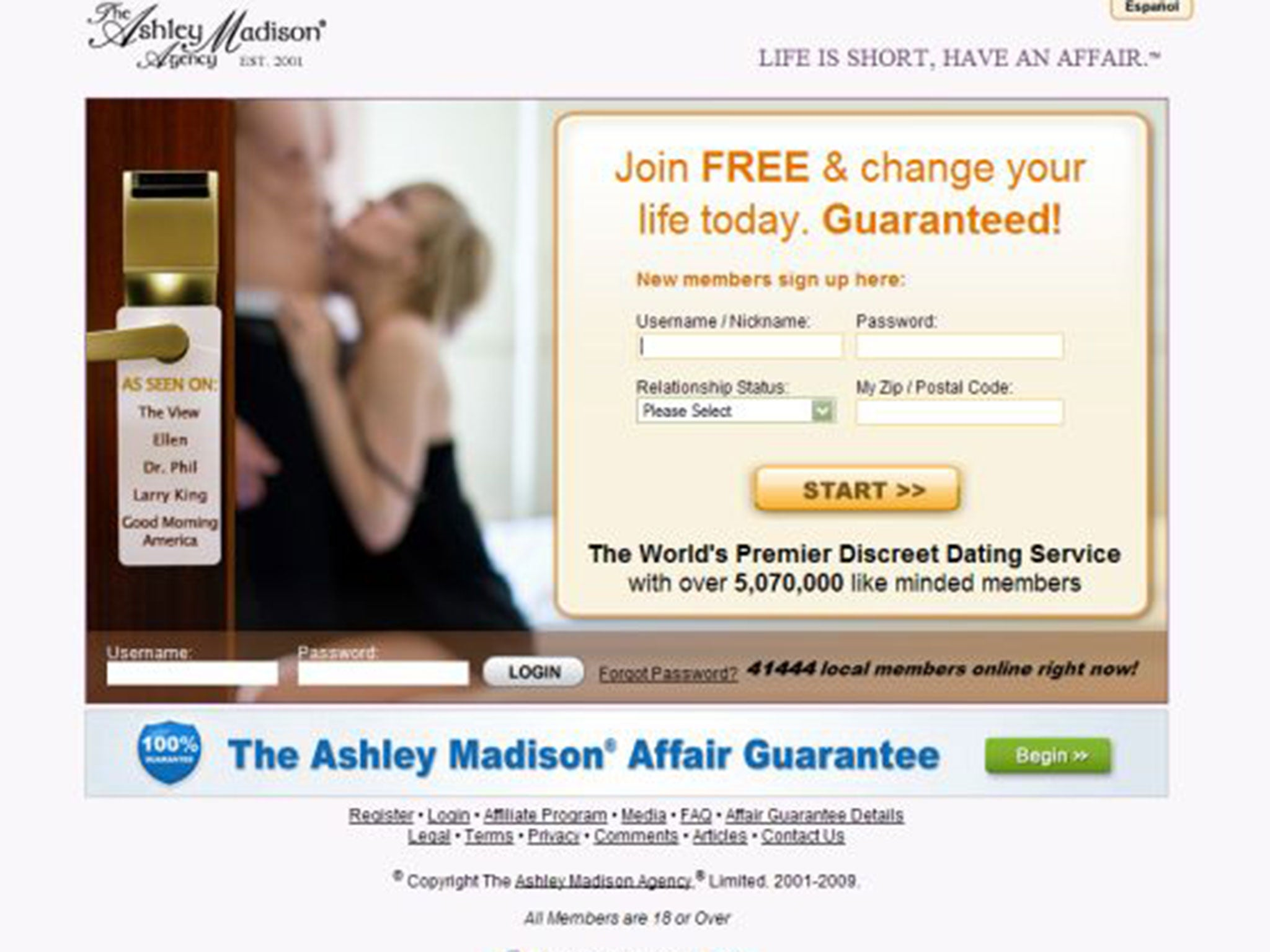 Extramarital affair website