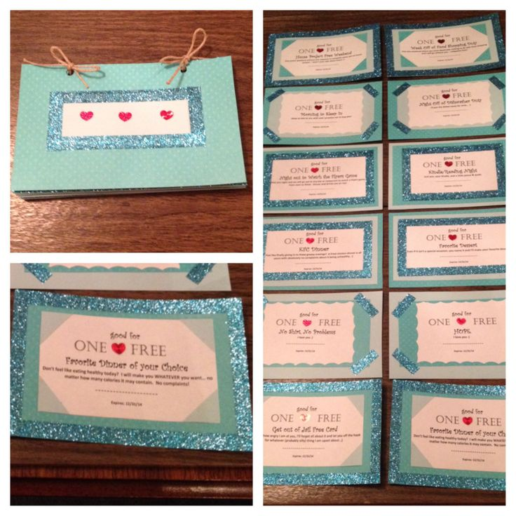 Cute homemade coupons for boyfriend