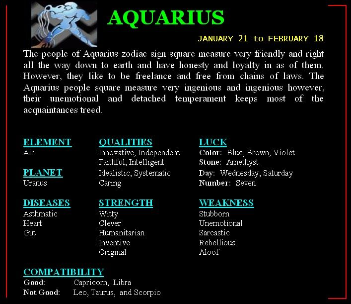 Aquarius are compatible with