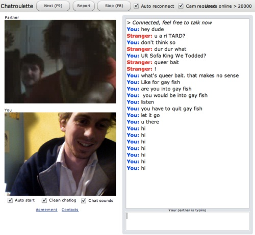 Mobile gay chat roulette.