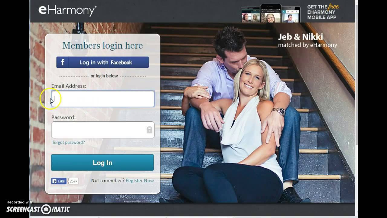 Eharmony.com log in
