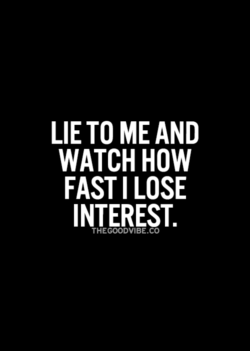 Lose interest in relationships quickly