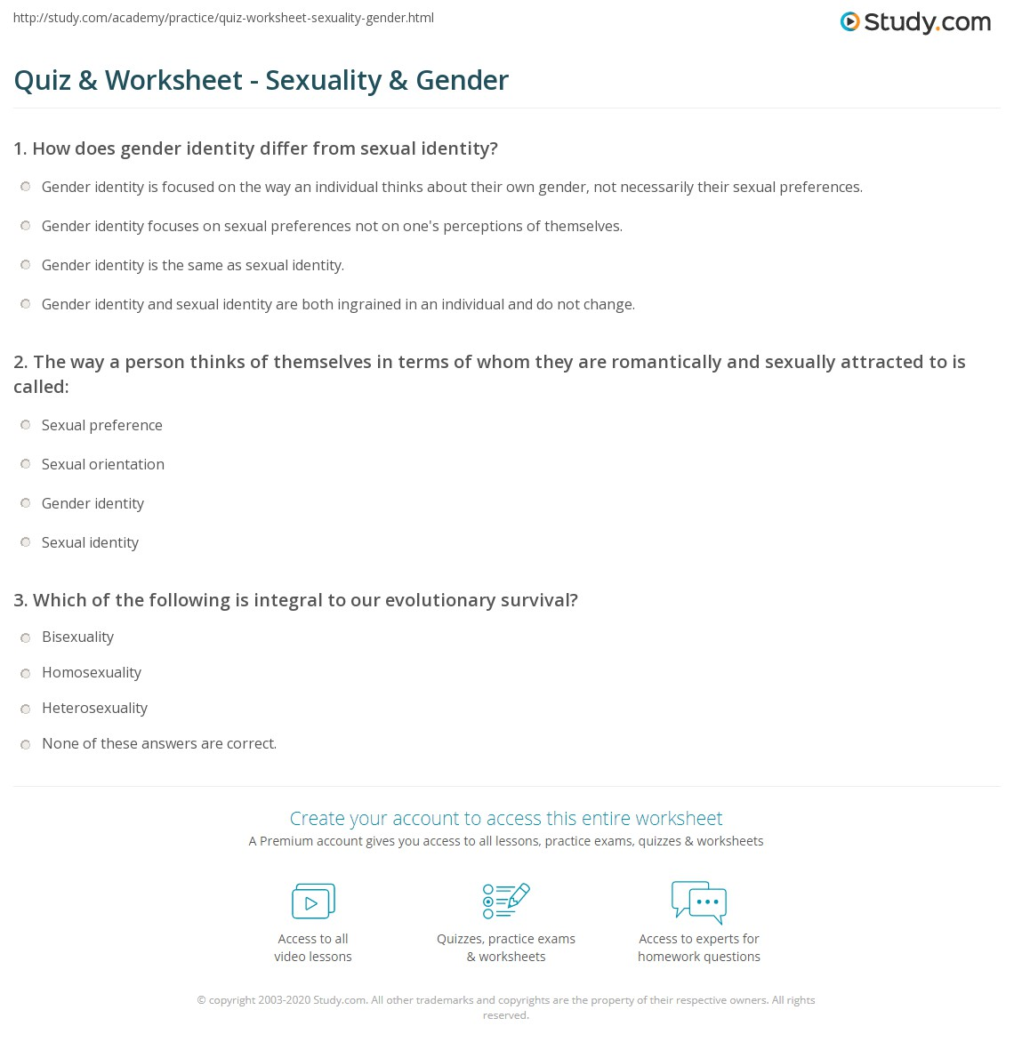 Fun quizzes about sexuality