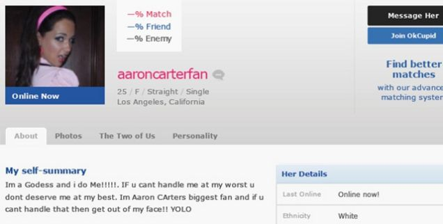Funny fake dating profiles