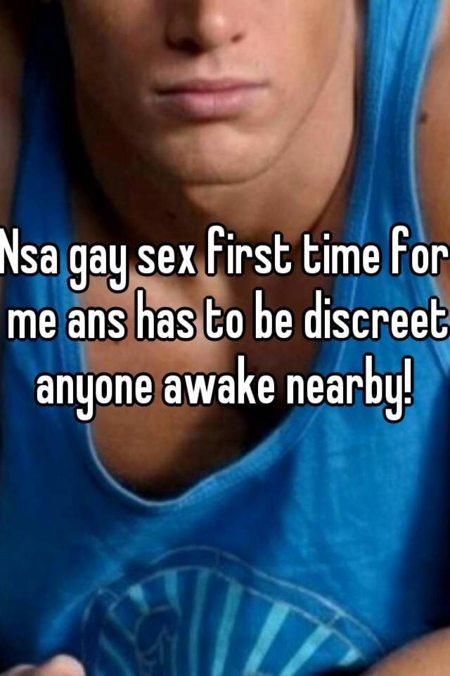 Gay nsa sex
