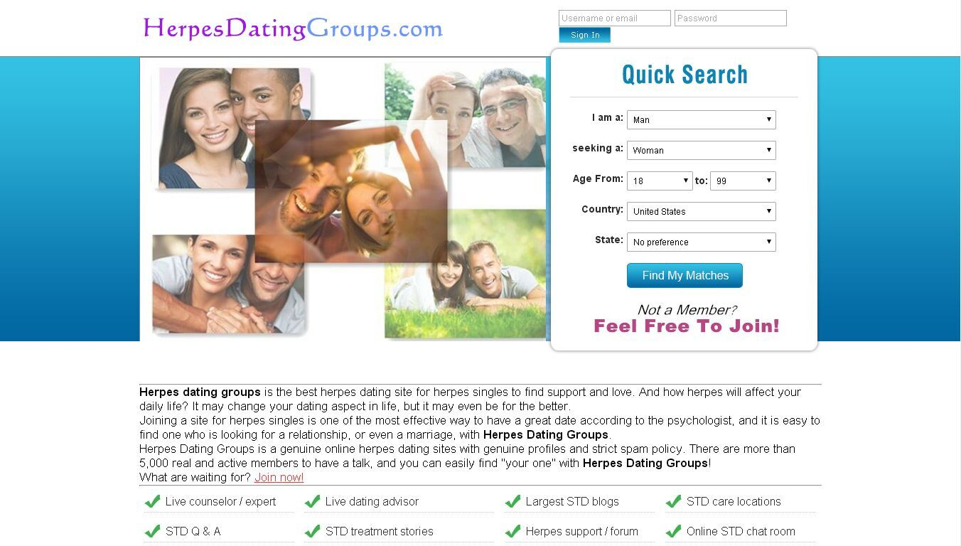 Herpes chat site
