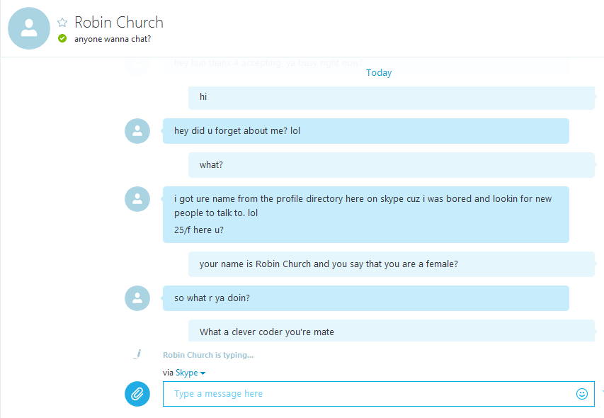 Horny skype accounts