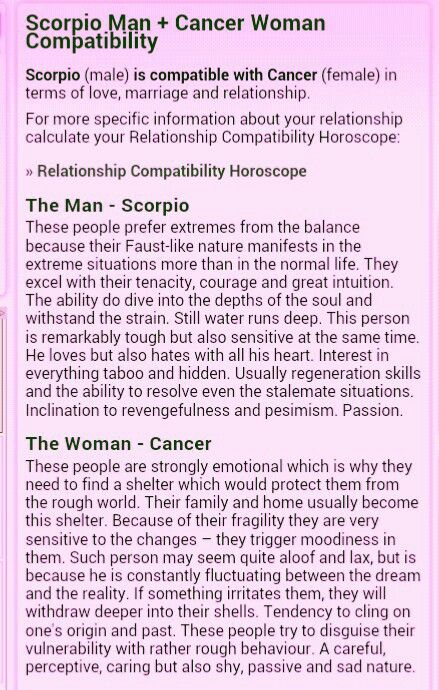 How compatible are scorpio and cancer