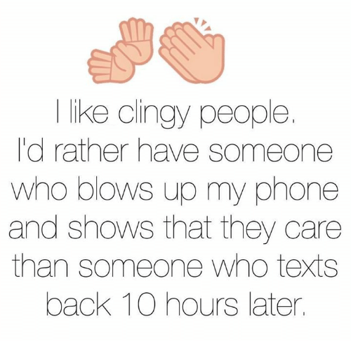 How much texting is clingy