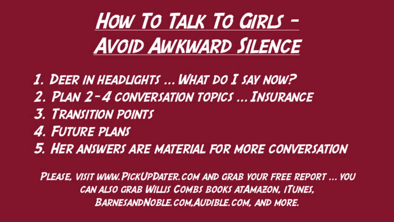 How to avoid awkward silences