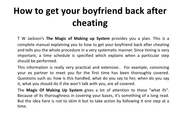 How to convince your boyfriend after a fight