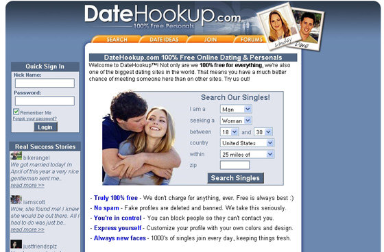 Online dating completely free