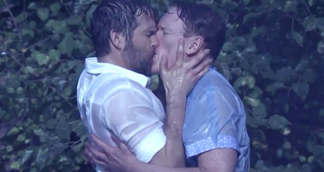 Passionate gay makeout