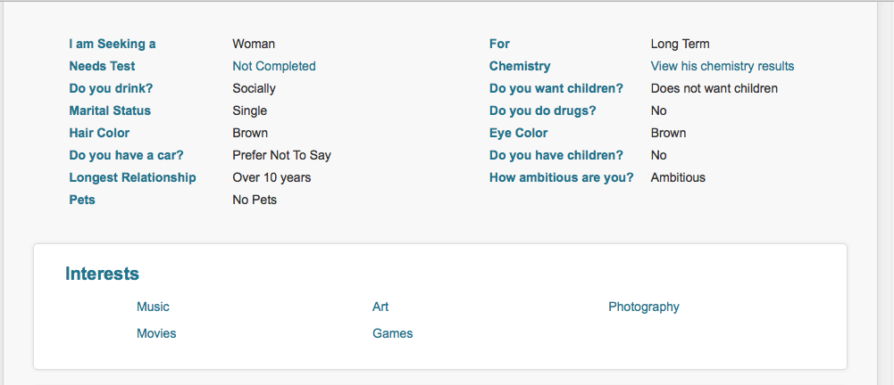 Pof interests examples