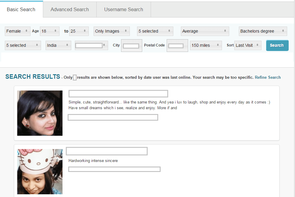Pof search profiles without registering