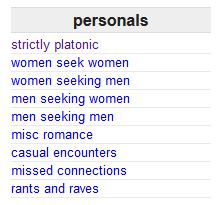 Replaced craigslist personals