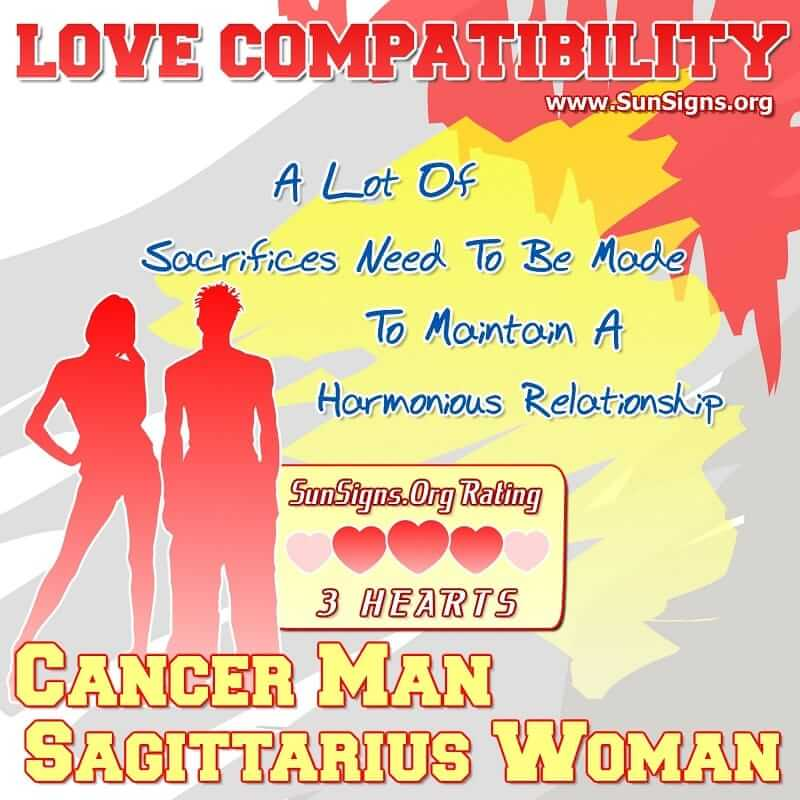 Sagittarius and cancer relationships