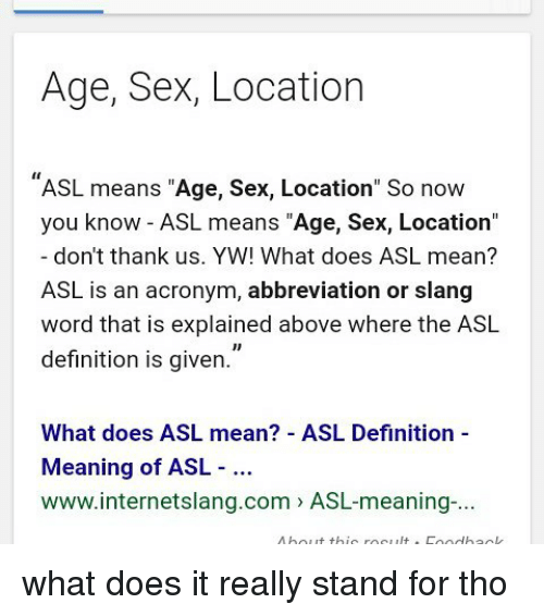 Sexual definitions slang