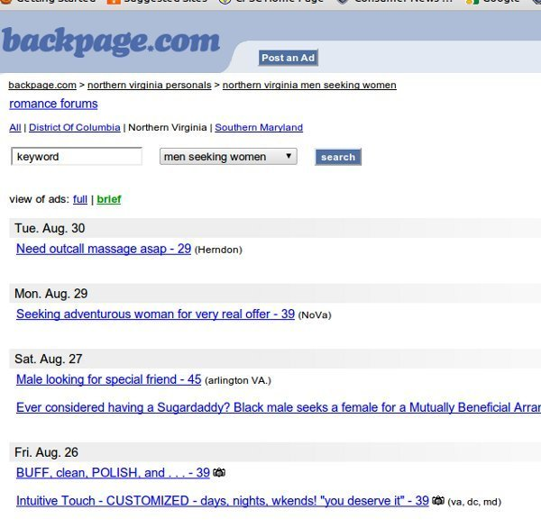 Sf backpage personals