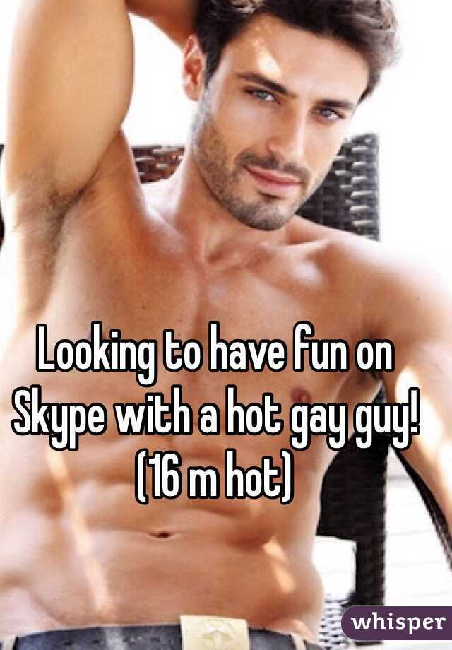 Skype gay fun