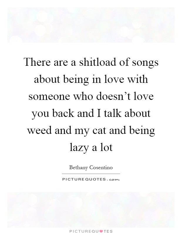 Songs for being in love