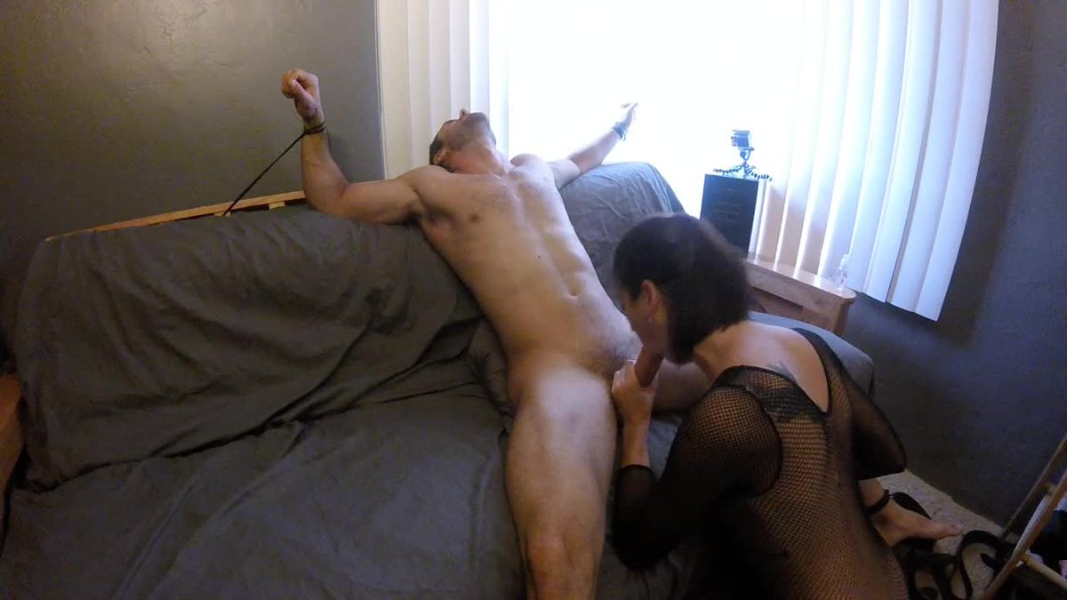 Tied and blowjob