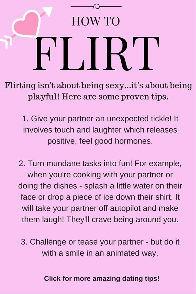 Ways to flirt with your boyfriend
