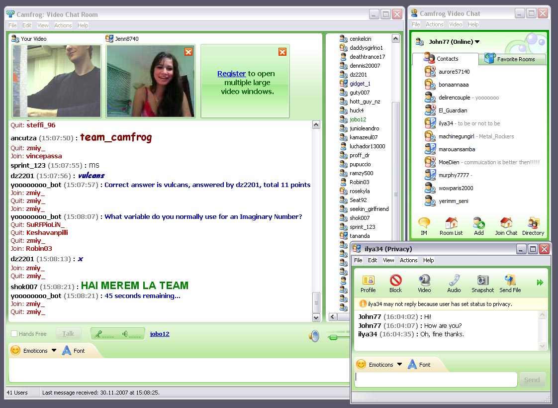What are good chat rooms