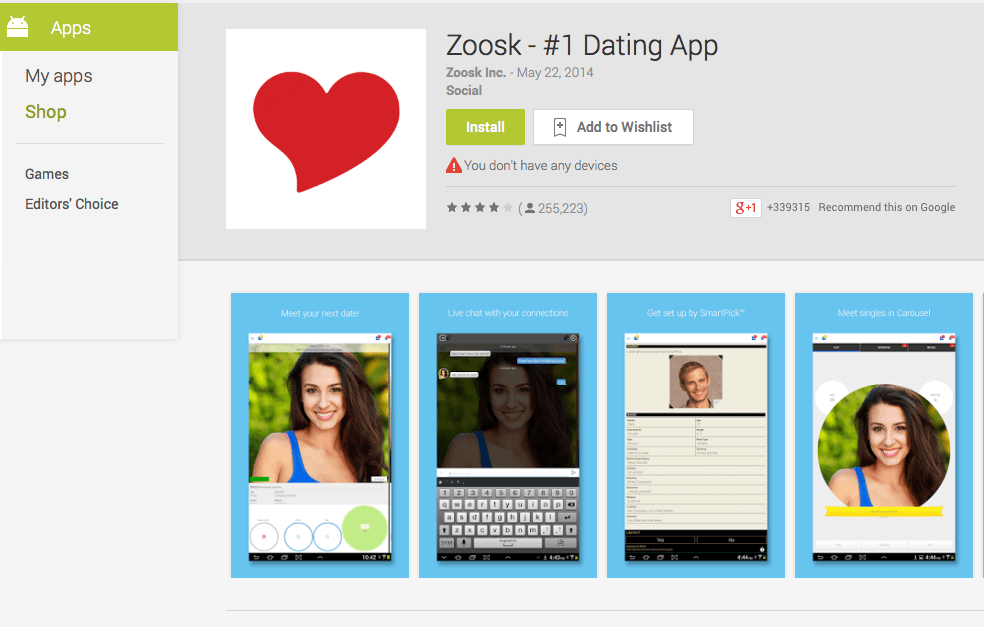 What does add mean on zoosk