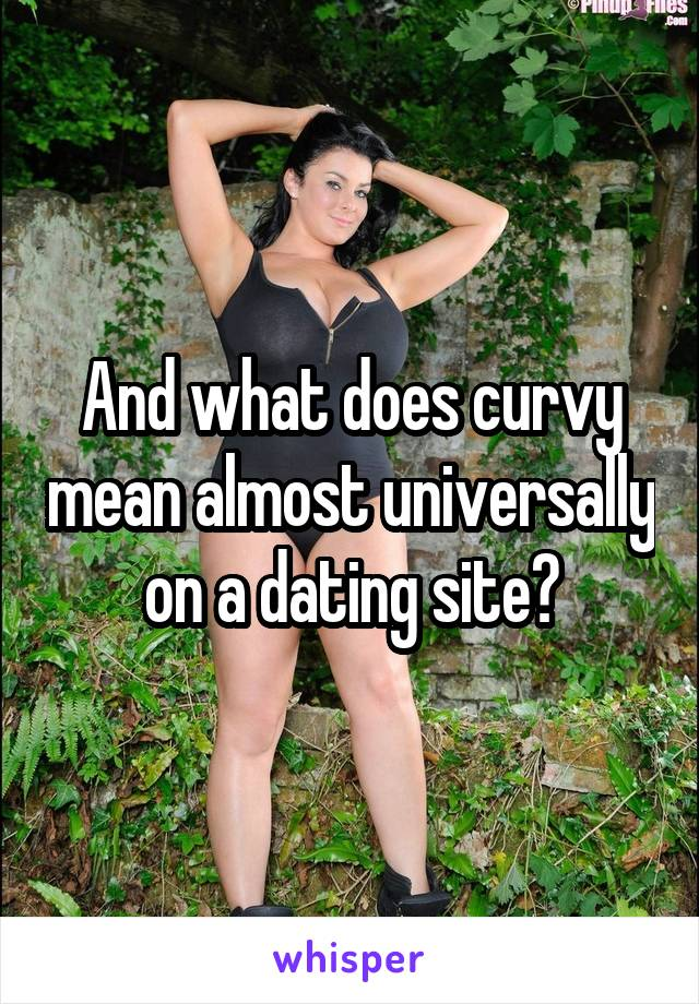 What does curvy mean on dating sites